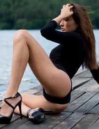 Michaela Isizzu visits a dock - Digital Desire