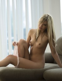 Kenna James undresses on a couch - Digital Desire