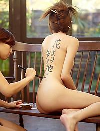 Mayuko & Saki Japanese Calligraphy
